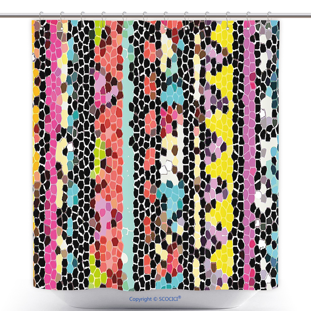 Us Fun Shower Curtain Abstract Indian Style