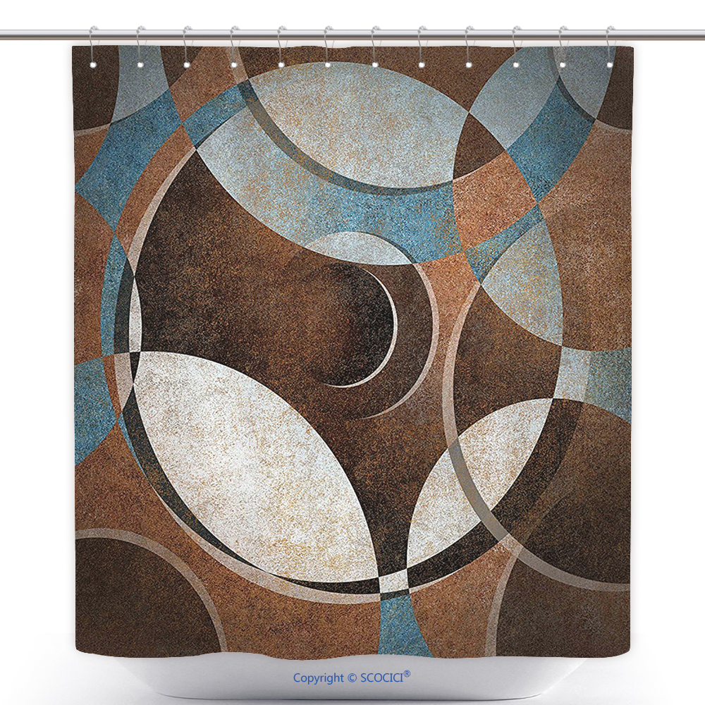 US$ 29.86 - Polyester Shower Curtain Abstract Grunge Vintage Style ...