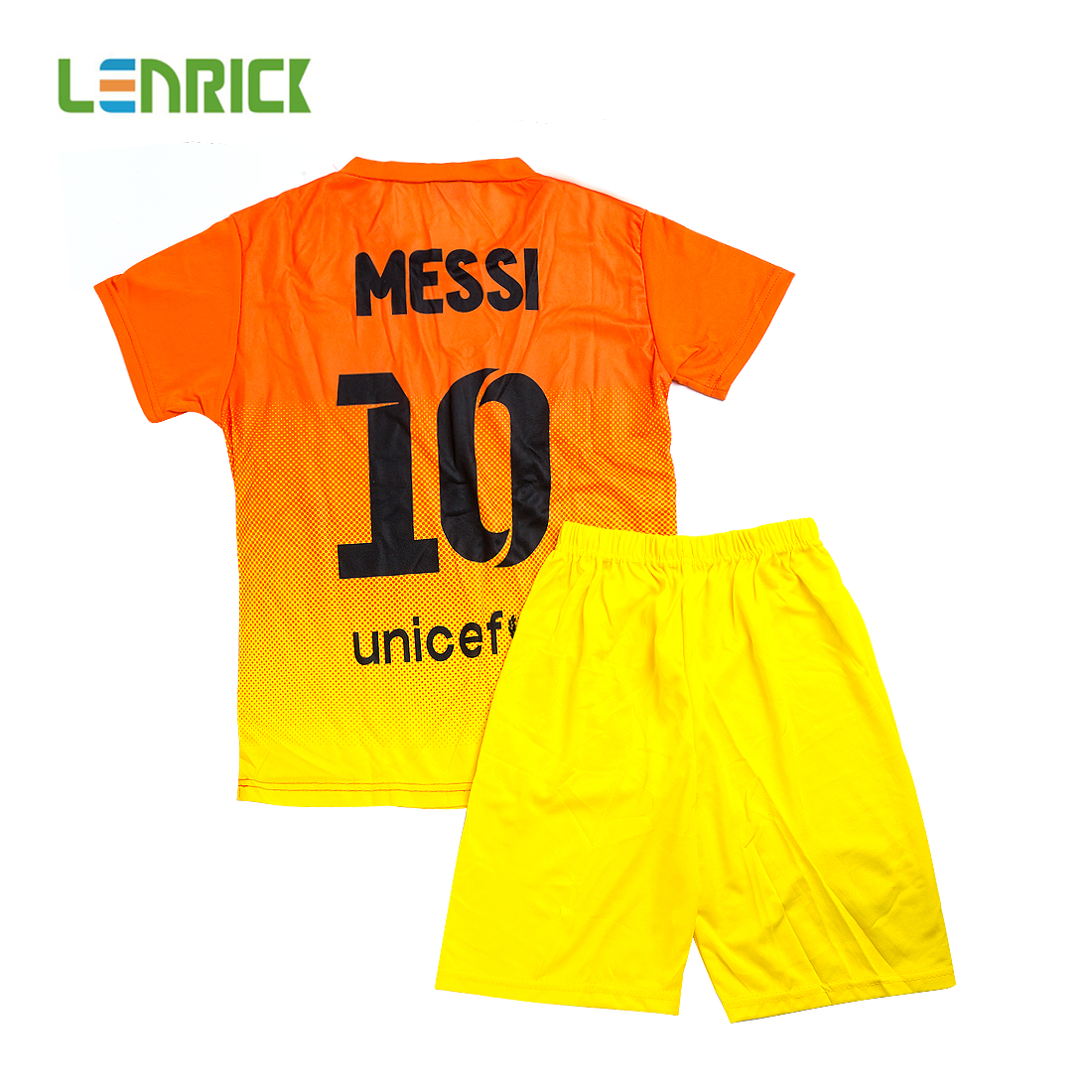 8fe09b1aa Lenrick 2016-2017 Barcelona Away Soccer Jersey Kids Kit Yellow Item NO   230630