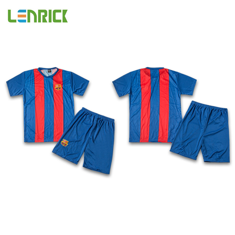 717e53d8e Lenrick Youth Barcelona Home Soccer Jerseys Kits Wholesale Item NO  261899