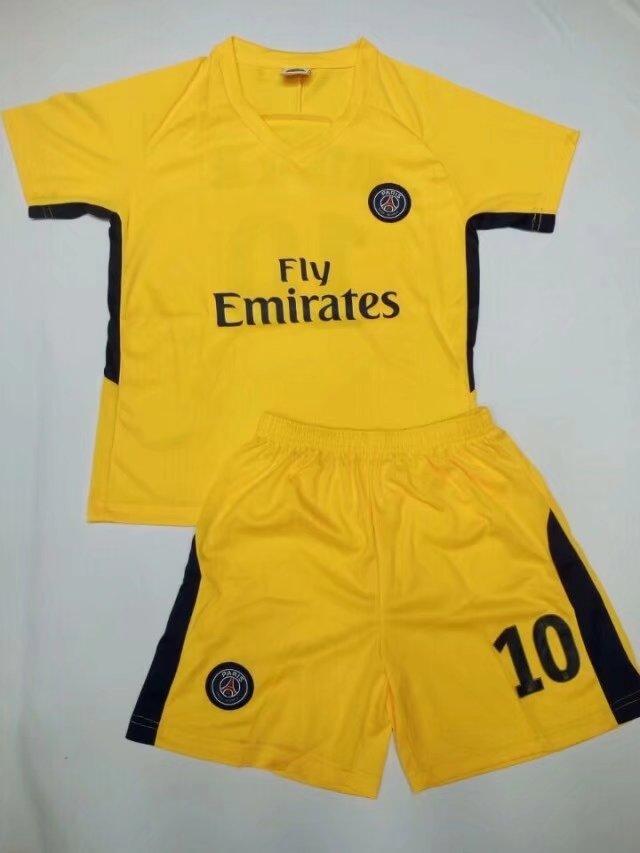 0ffa15479e9 17-18 Kids Cheap PSG Home Soccer Jersey Uniform NEYMAR JR 10 Children  Cheapest Football Kits Complete Uniform Shirt +Short Item NO  268982