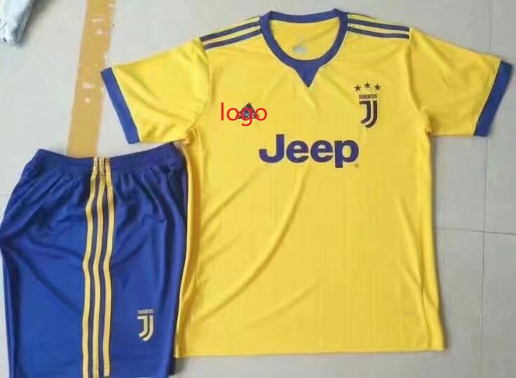 5b939888cff 17-18 Cheap Adult Juventus Away Soccer Jersey Uniform Yellow Higuain 9 Men  Football Set Shirt+Short Item NO  406958