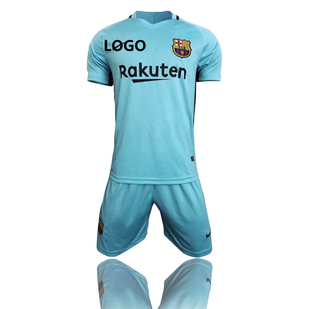 17 18 Kids Bacelona Away Blue Soccer Jersey Uniform Children Football Jersey  Kits Custom Name or Number Cheap Wholesale Item NO  436770 df3f6c299