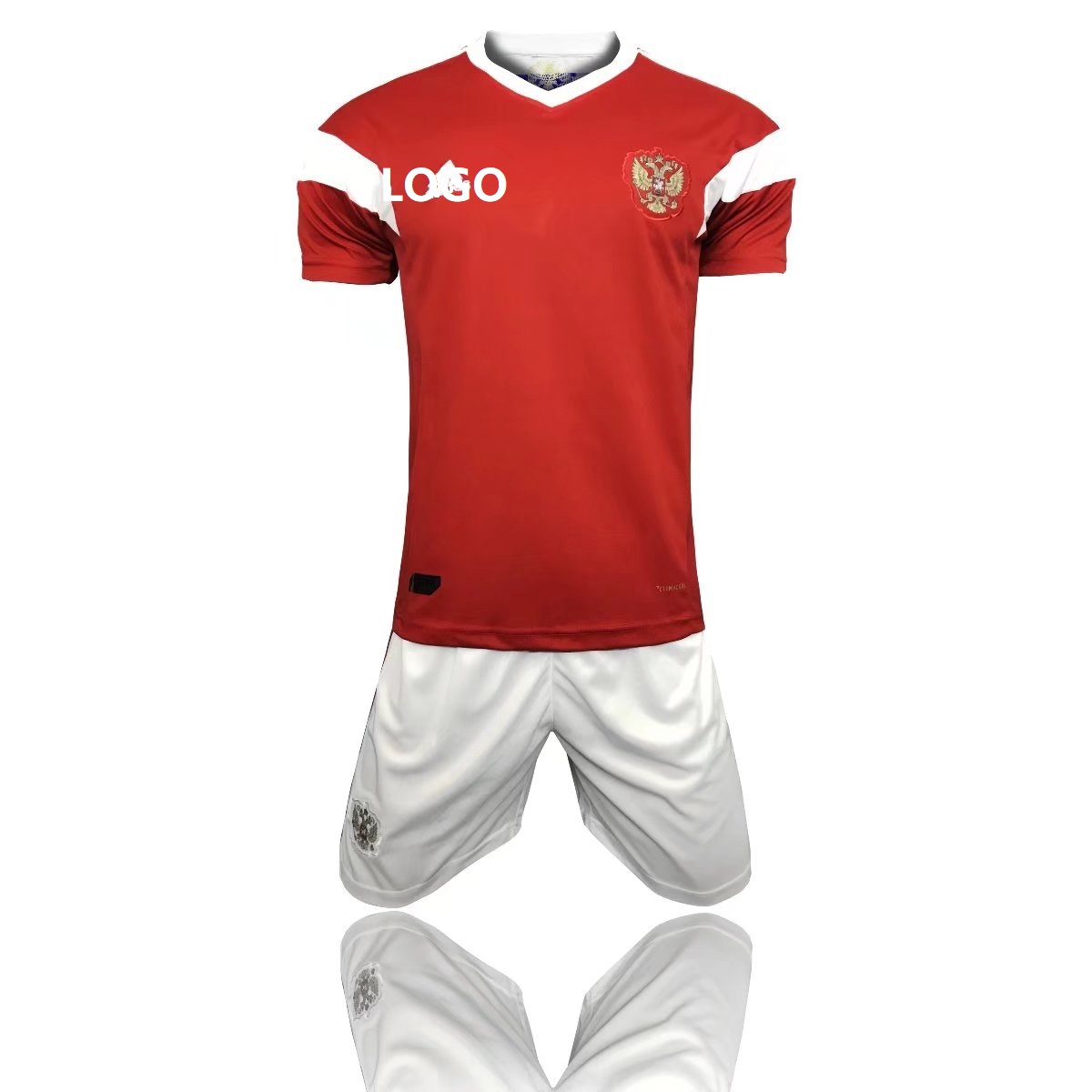 babfcbce05176 2018 Russia World Cup Adult Russia Home Red/white Soccer Uniform Men  Football Kits Custom Name Number