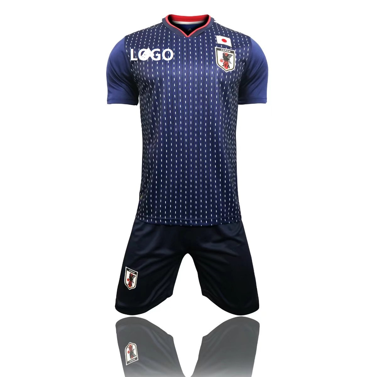 premium selection 26f66 32b15 2018 Adult Japan Home Blue/white Soccer Jersey Uniforms Russia World Cup  Football Team Kits Custom Name Number