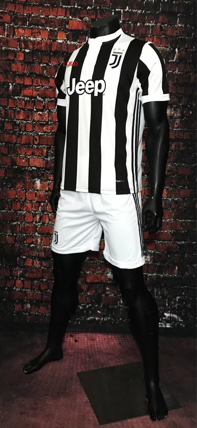 5b2296e66b9 17-18 Cheap Adult Juventus Home Soccer Jersey Uniform Black Higuain 9 Men Football  Jersey Shirt+Short