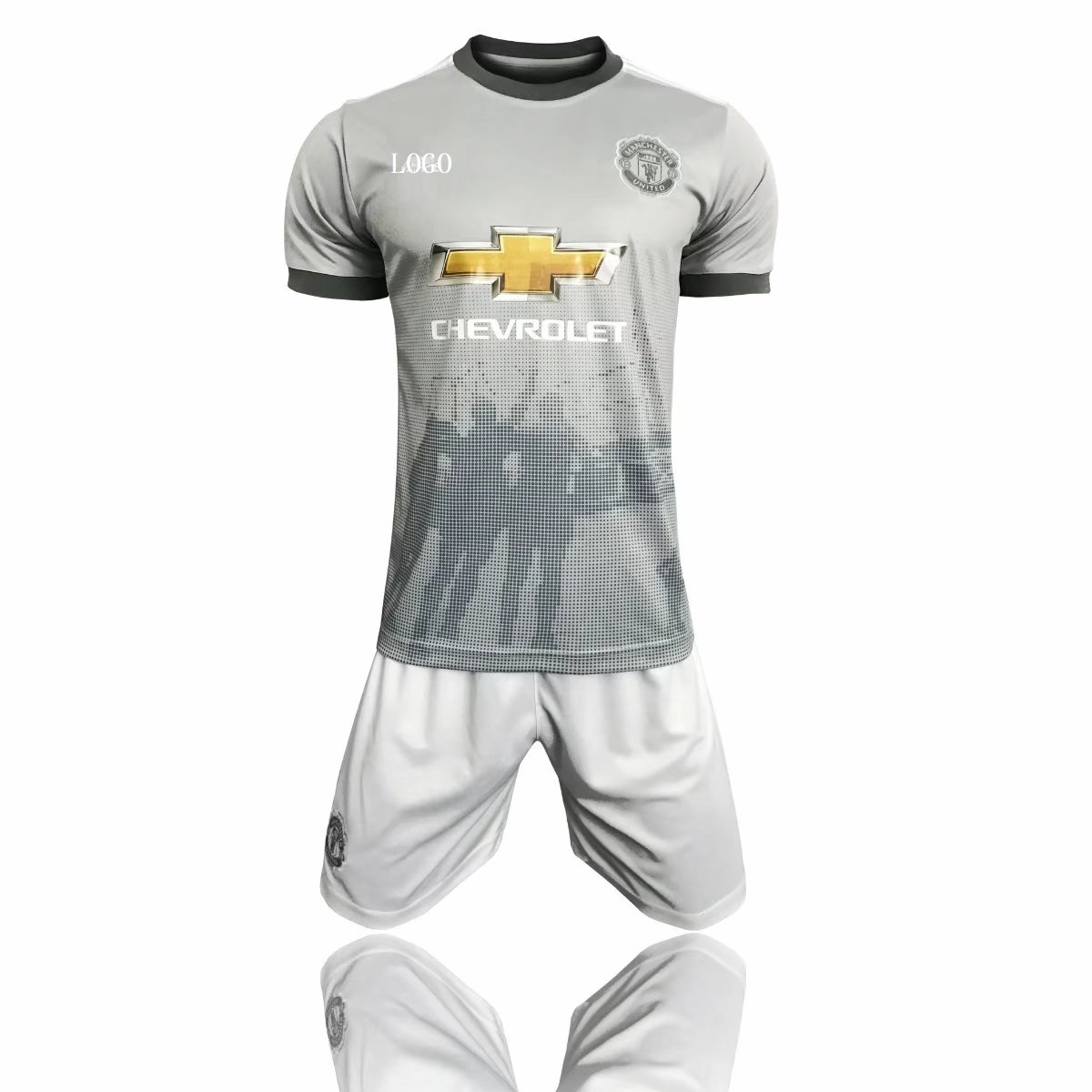 94c840d93 17 18 Cheap Adult Manchester United Third Away Grey Soccer Jersey Uniform  Men Football Jersey Kit Team Uniforms Wholesale Item NO  444237