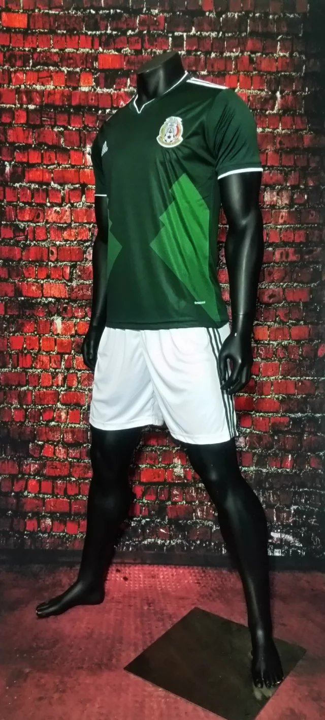 2f2c6a28036 2017 Cheap Adult Mexico Home Green Soccer Jersey Uniforms Men Football  Jersey Set Shirt+Short TracksuitShirt+Short