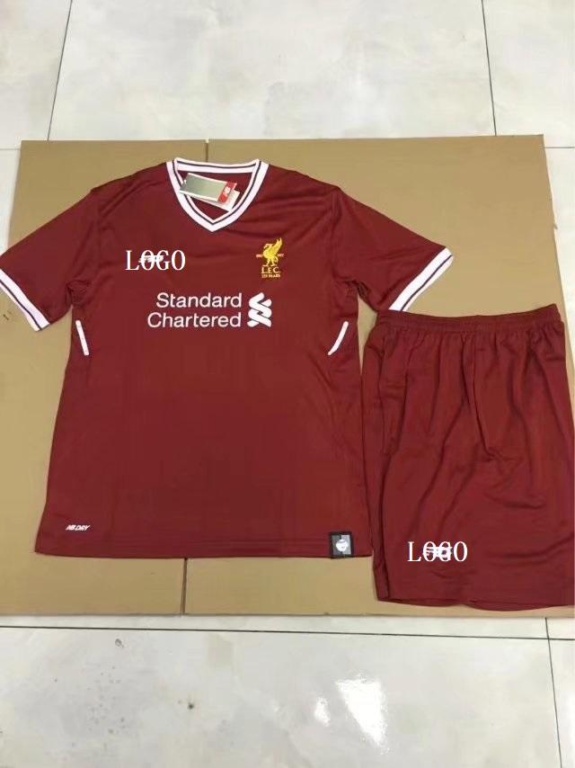 debac0c47 2017 18 Kids Liverpool Home Red white Soccer Jersey Kits soccer uniforms  wholesale Item NO  445859