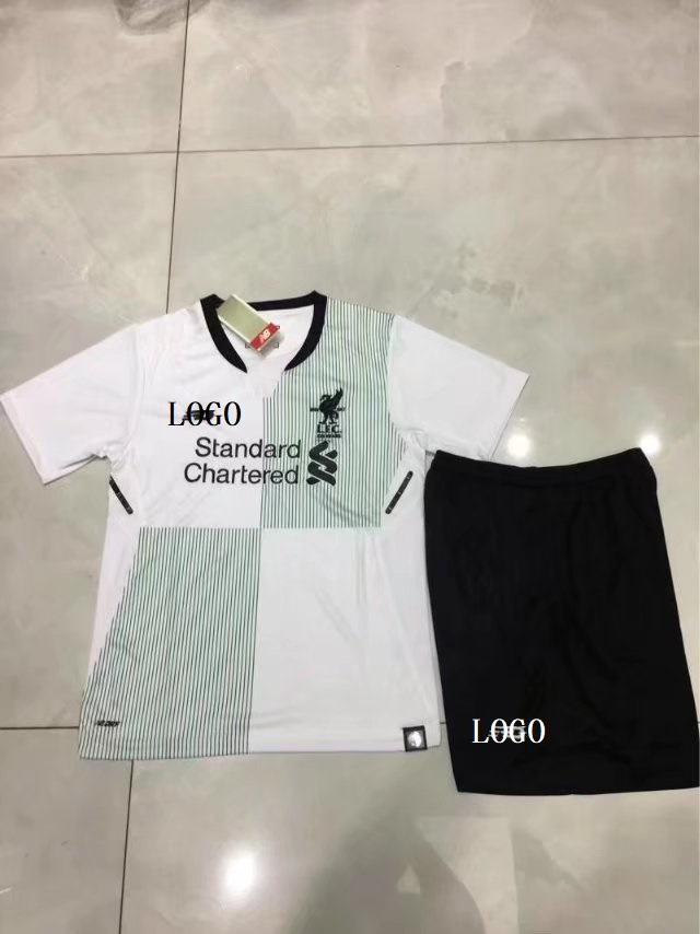 e79696f98 2017 18 Children White Liverpool Away Football Jesey Kit Kids Sport Jersey  Soccer Uniform Item NO  445858