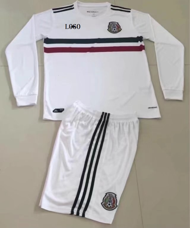 17 18 Mexico Away White Adult Soccer Jersey Kits Men Football Uniforms  Design Name Number Item NO  445737 137838abd