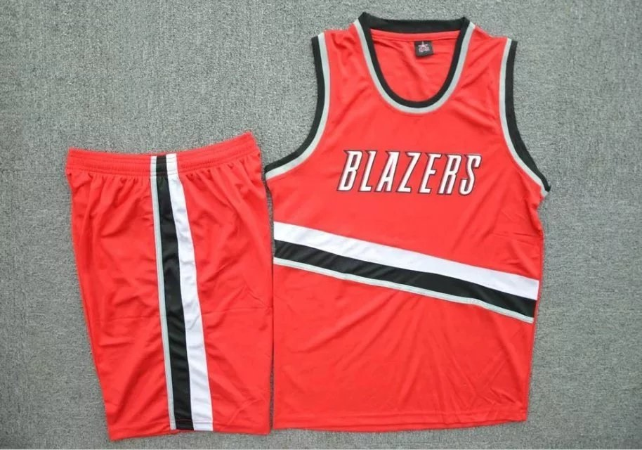 04883adcf05d Men s Portland Trail Blazers Red Jersey Sets Adult Basketball Team Uniforms  Custom Name Number Cheap Kits Item NO  454416