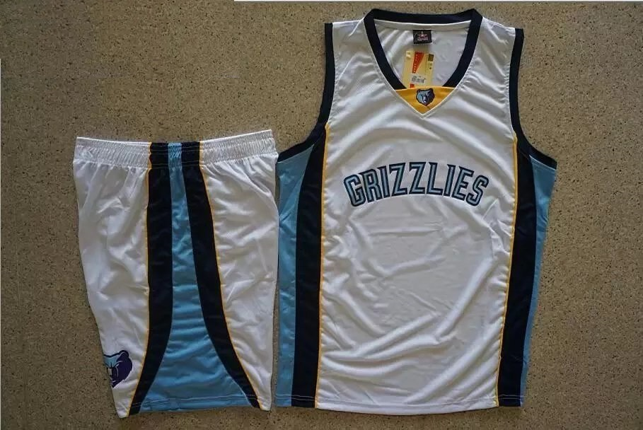 separation shoes 8ff2c 85a33 Men's Memphis Grizzlies White Custom Replica Jersey Uniforms Adult  Basketball Kits