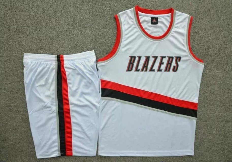 e4dc02b7860a Men s Portland Trail Blazers White Home Jersey Uniforms Adult Team  Basketball Kits Custom Name Number Item NO  454414