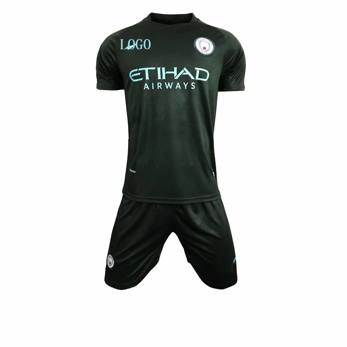 74af63742 Adult Manchester City 2017-18 third Soccer Jersey Uniforms Men Complete  Football Team Kits Item NO  444239