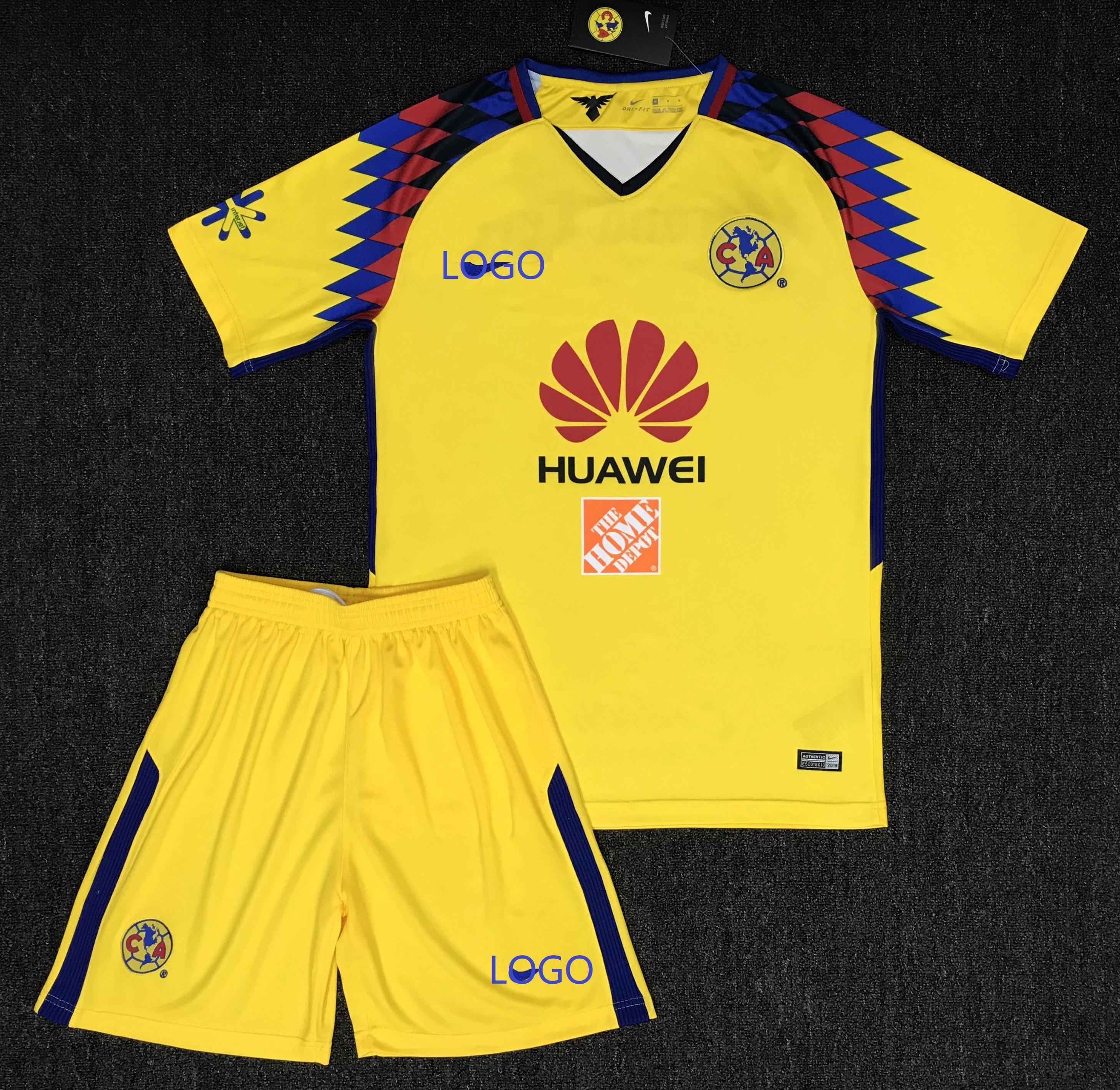 new arrival 5a363 cf68f 2018 Adult America Aguilas Camiseta de futbol Third Away Mexican League  soccer jerseys set Men Football Kits