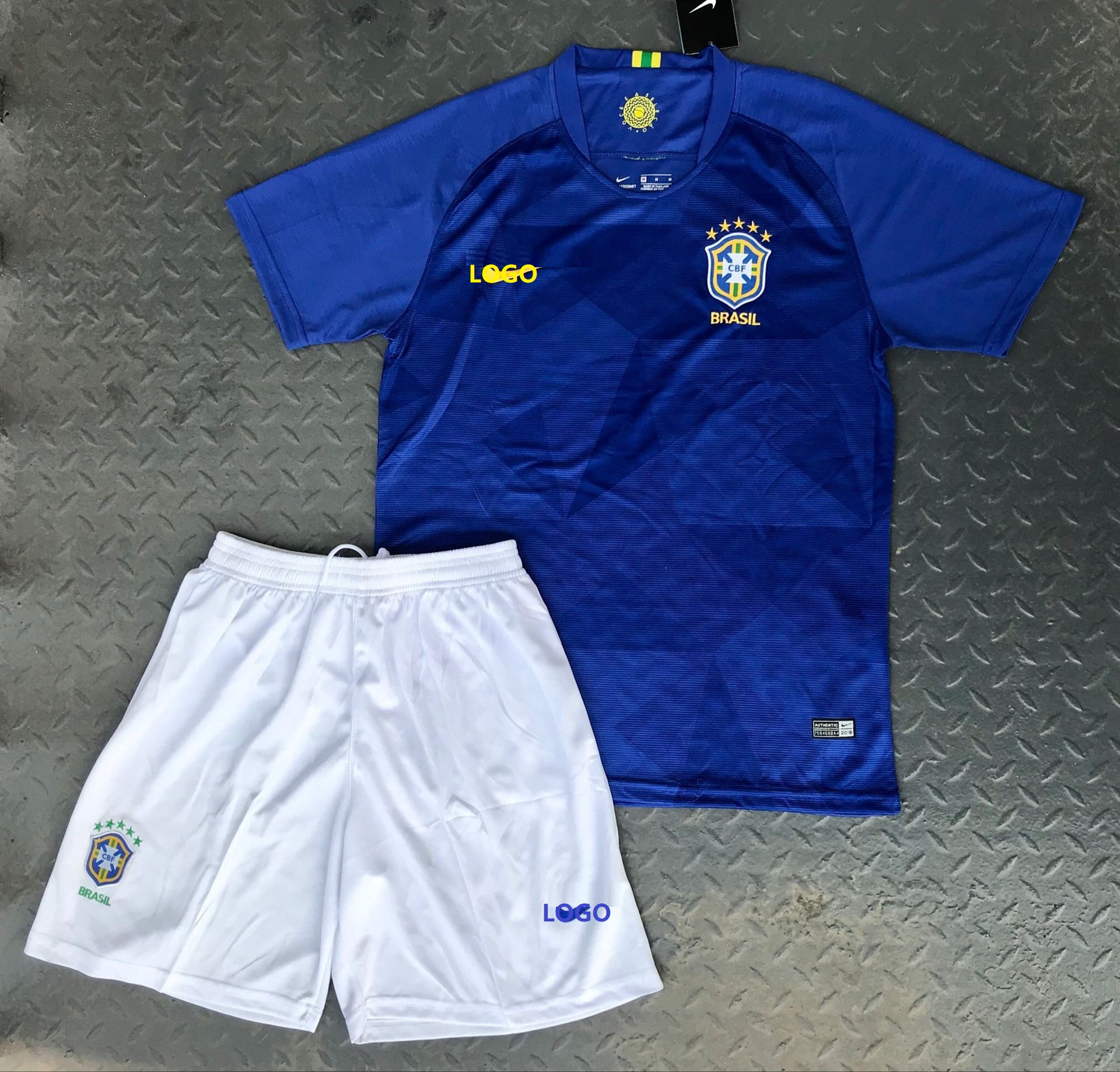 2018 Adult Brazil Away Soccer Jersey Men Football Uniforms Russia World Cup  Soccer Kits 20f9c68c3