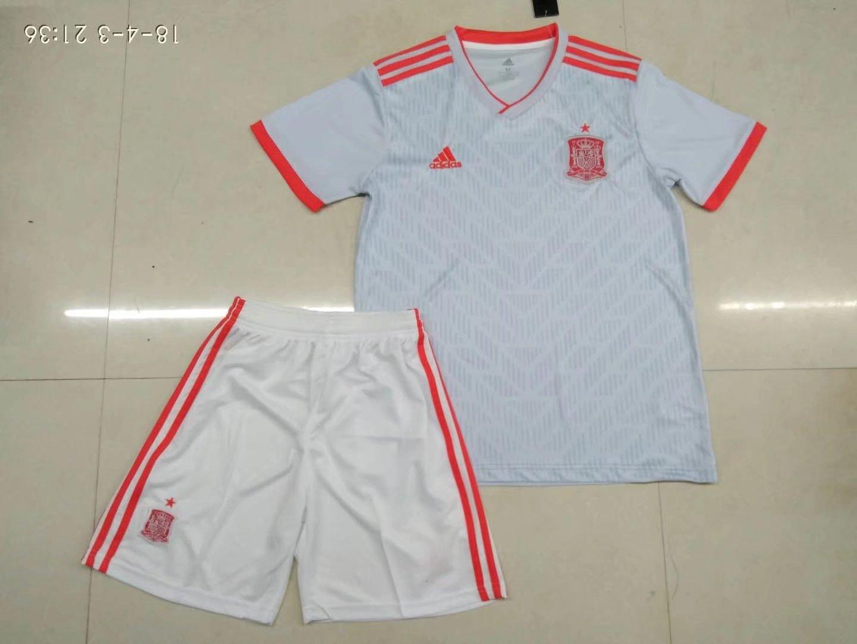 c55b967d7d0 2018 Russia World Cup Adult Spain Away Soccer Kits Men Soccer Uniform  Customization Name Number Football Jersey