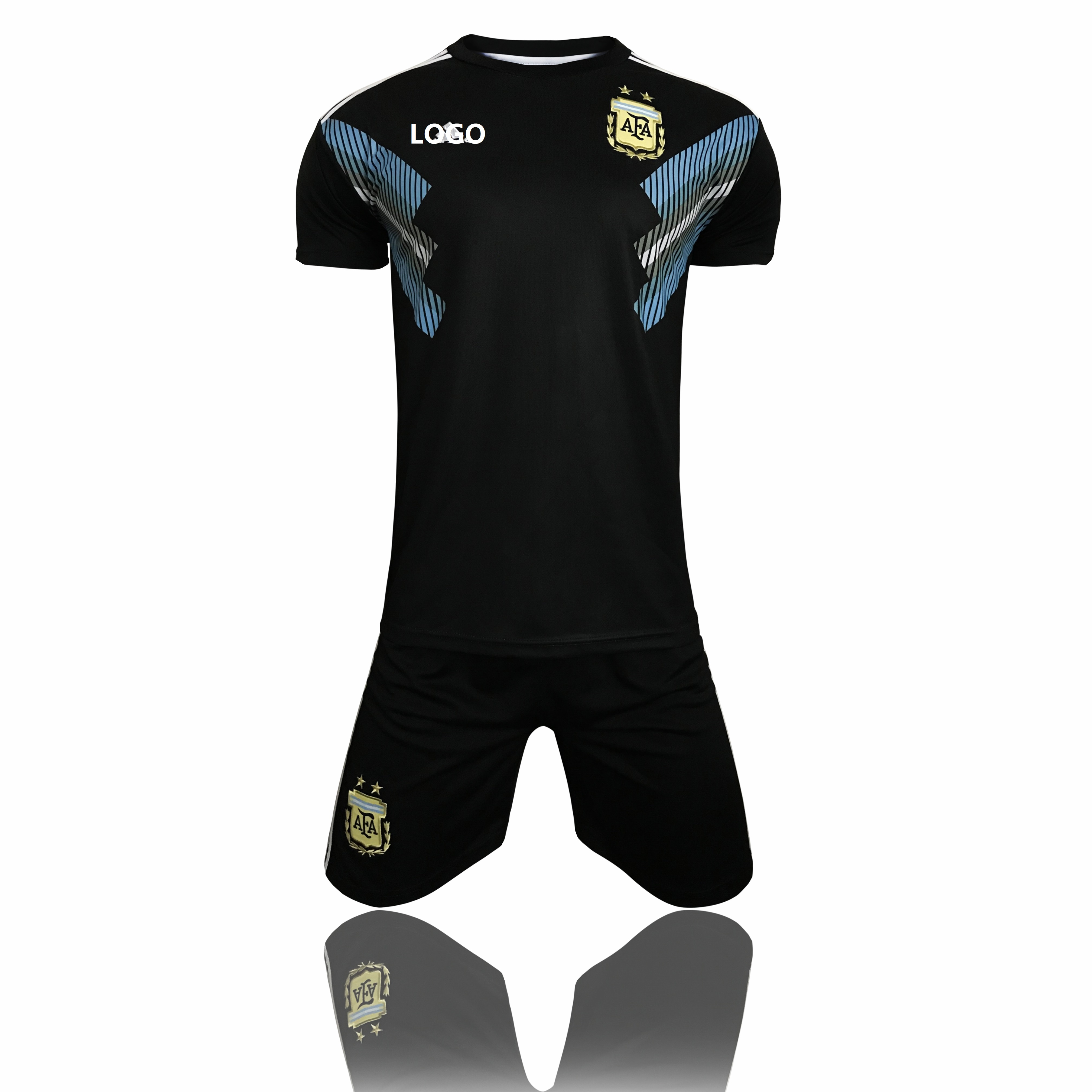 ec5e3361223 2018 Kids Russia Argentina Away Soccer Uniforms Children Football Kits Item  NO  493539