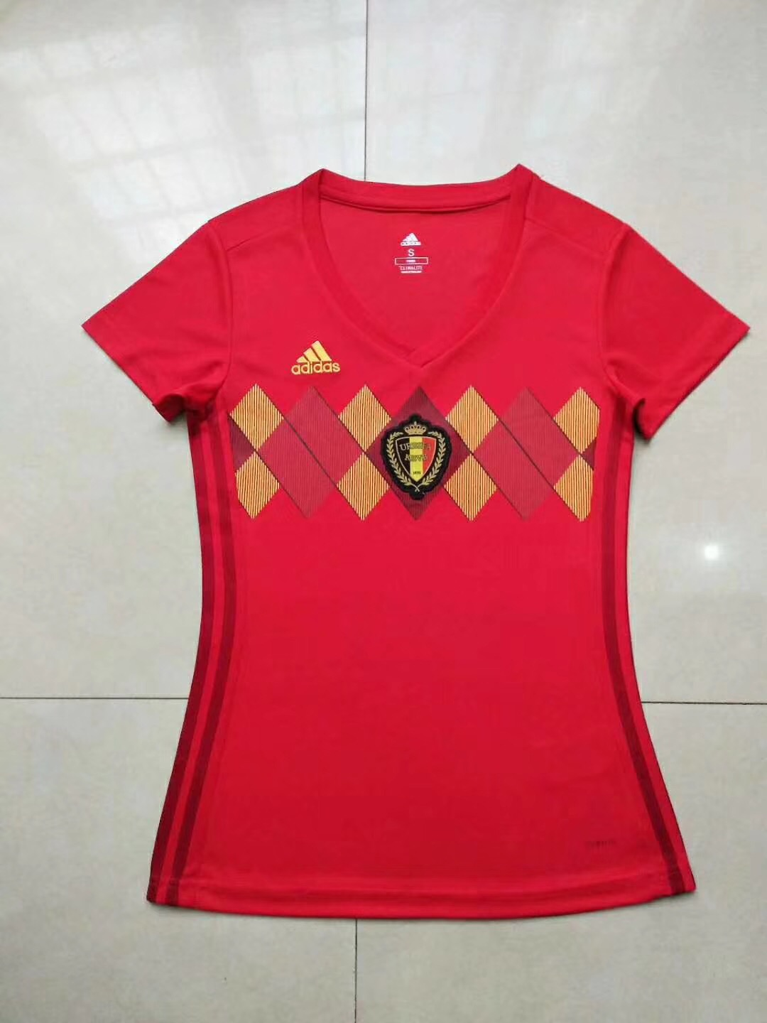 bf5ce49f11f 2018 Russia World Cup Woman Belgium Red Home Soccer Uniform Woman Football  Kits Custom Name Number