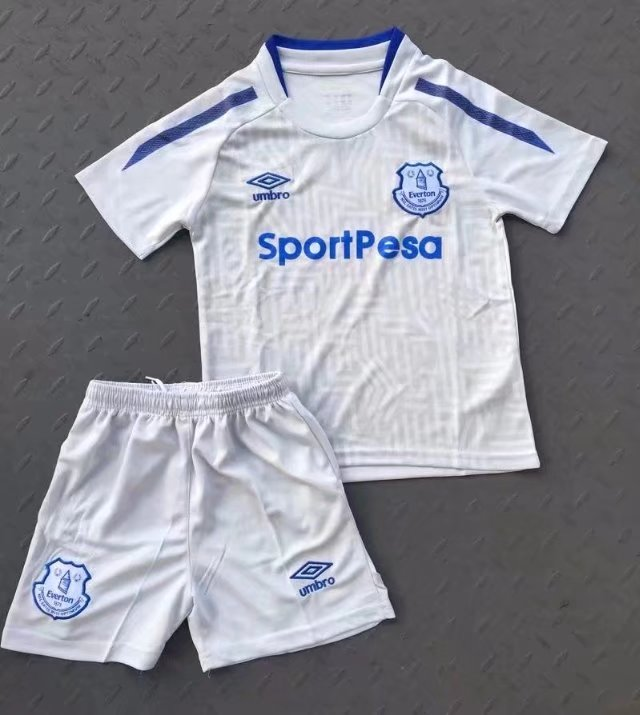 huge selection of 6d17a 57610 Everton FC 2017 2018 Away Football Kit Soccer Jersey White Adult Soccer  Uniforms