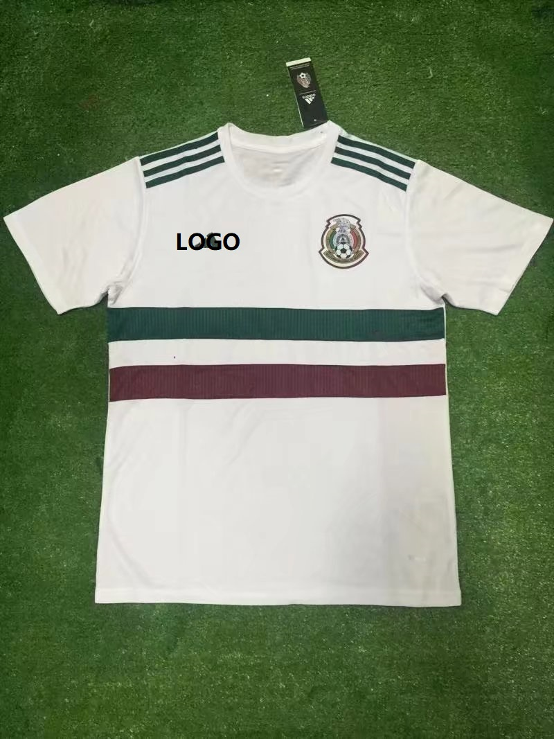 5a92c46b6 Best Sellers  18 World Cup Man Mexico White Shirt Soccer Jersey Men  Football Uniform Custom Name Number