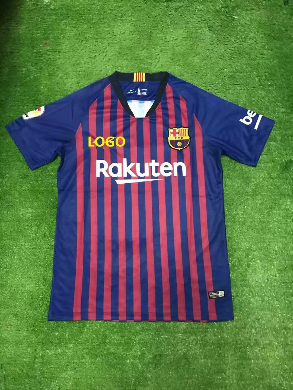 530425c2526 18 19 Adult Barcelona Home Soccer jersey Men Football kits Wholesale Custom  Name uniforme de fútbol order soccer uniforms online Item NO  531541