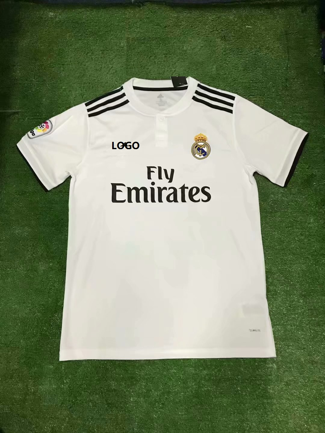 059ddedcdd5 18 19 Cheap Wholesale Adult Real Madrid Home Soccer Jersey Uniform Custom  Name And Number