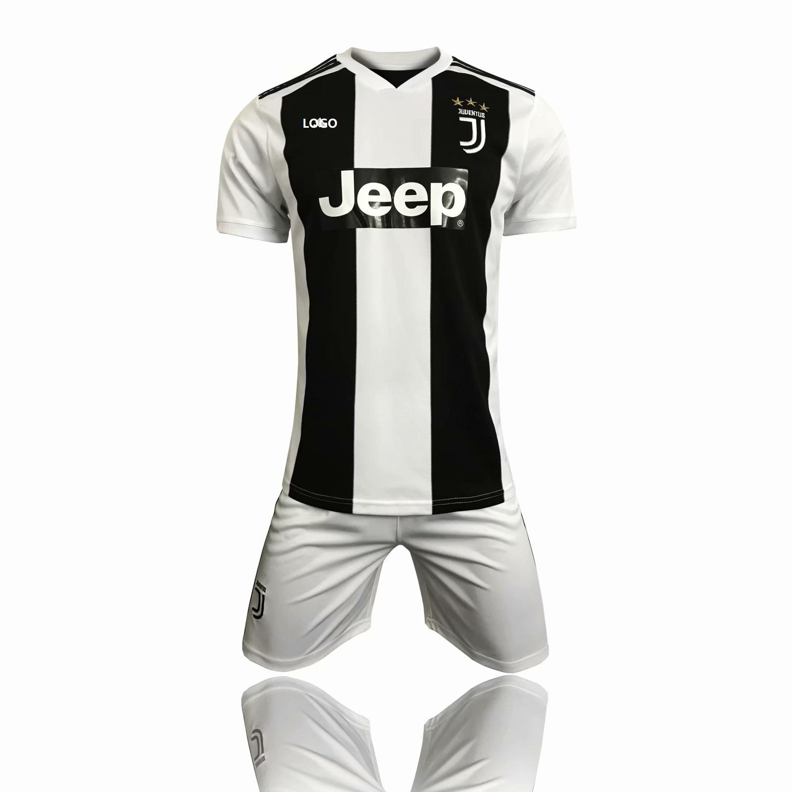 9d885d656b7 2018/19 Cheap Adult Juventus Soccer Jersey Uniform Man Shirt+Short Football  Tracksuit Home Away