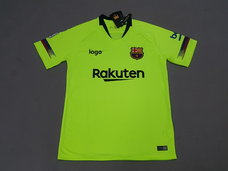 f81cbe6e9d7 18-19 Barcelona Away Green Soccer Jersey - Thai Quality Football Shirt  Custom Name And Number