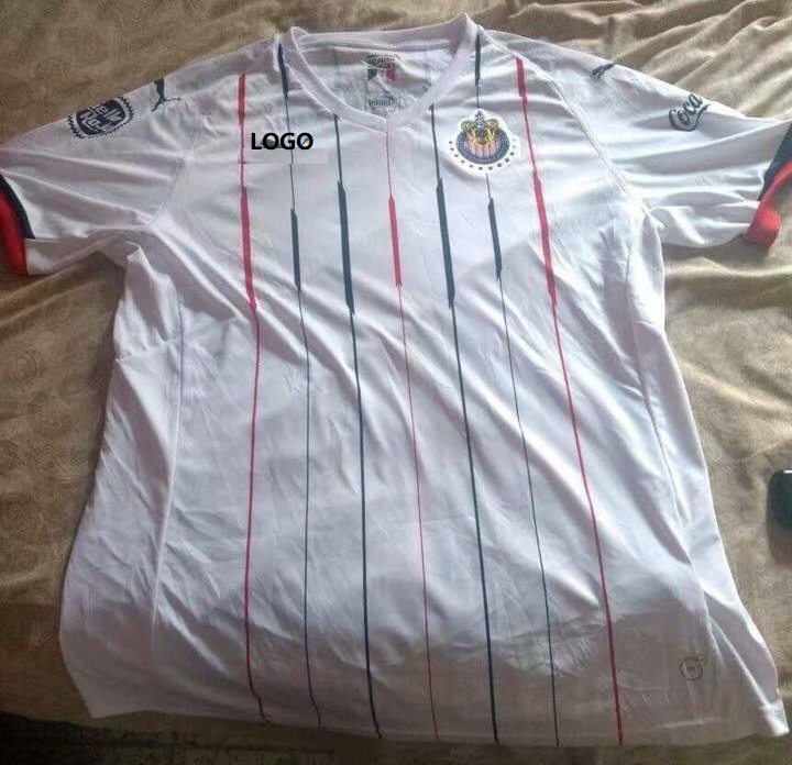 8f1bbf730 18 19 18-19 chivas Away White Soccer Jersey -Thai Quality Football Shirt  Custom Name And Number