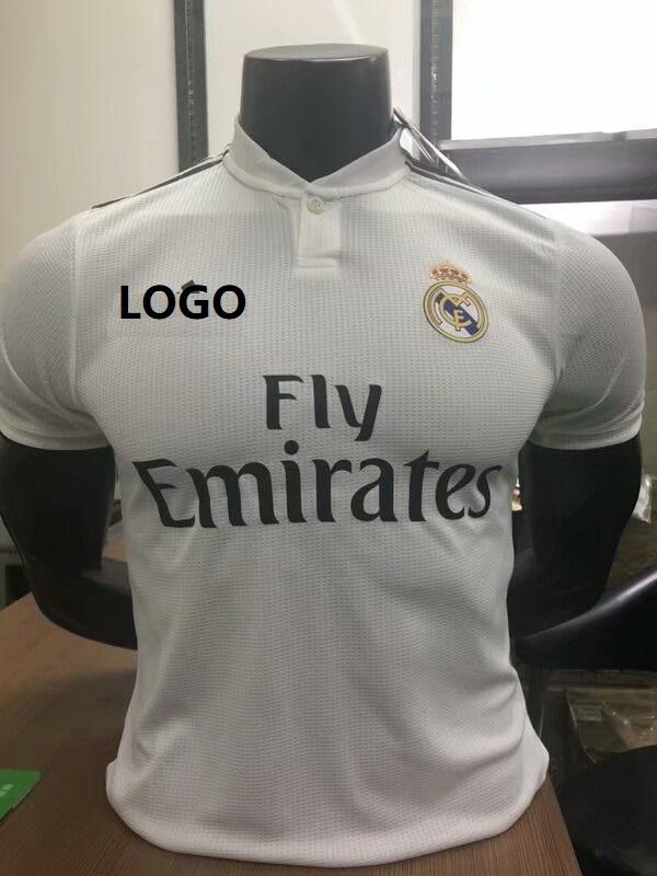 69b2c61af 18 19 Men Real Madrid Home Player Version Soccer Jersey Football Shirt