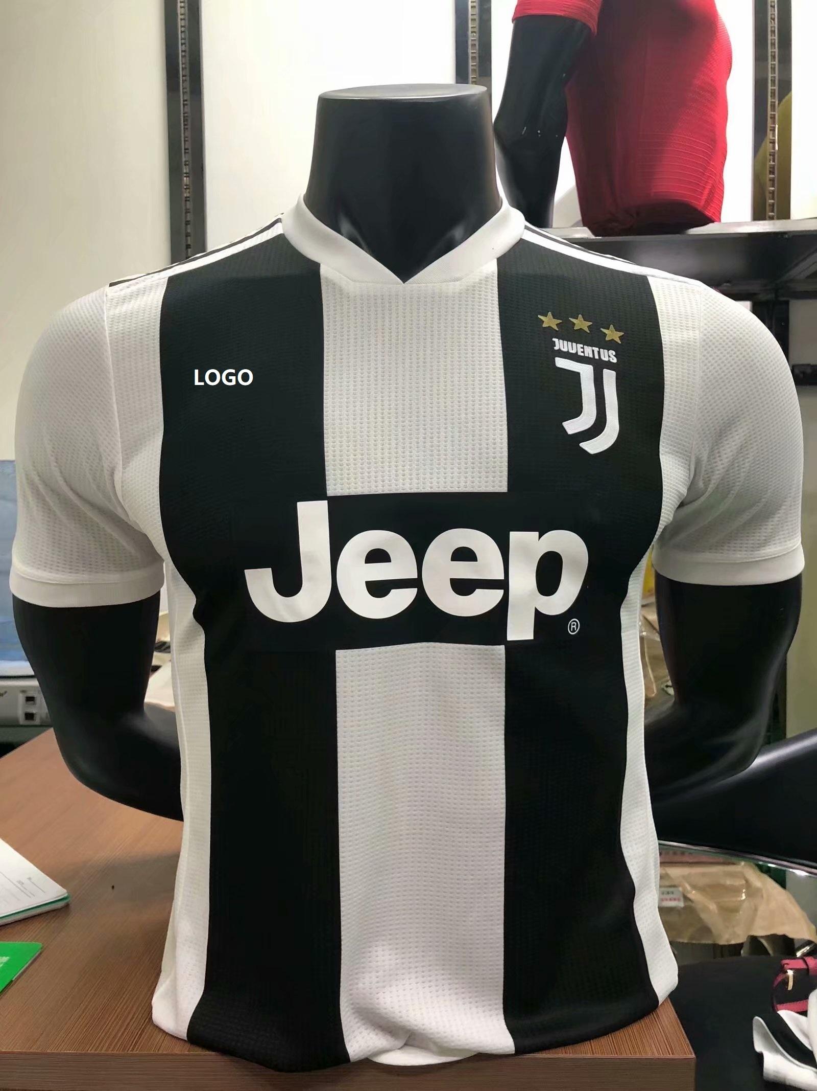 93de462158f 18/19 Men Juventus Home Player Version Soccer Jersey Football Shirt
