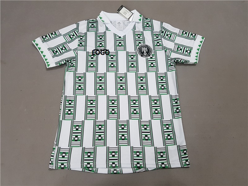 2018 19 Men Nigerian white 94 vintage Soccer Jersey -Thai Quality Adult  Football Shirt af3a4690a