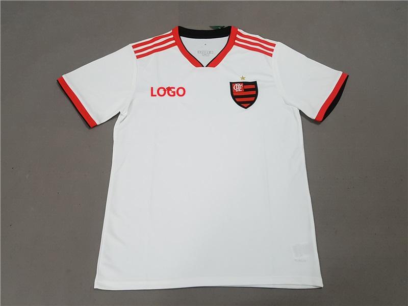 e0ae217b5 2018 19 Men Flamengo RJ Away white Soccer Jersey -Thai Quality Cheap Adult  Football Shirt