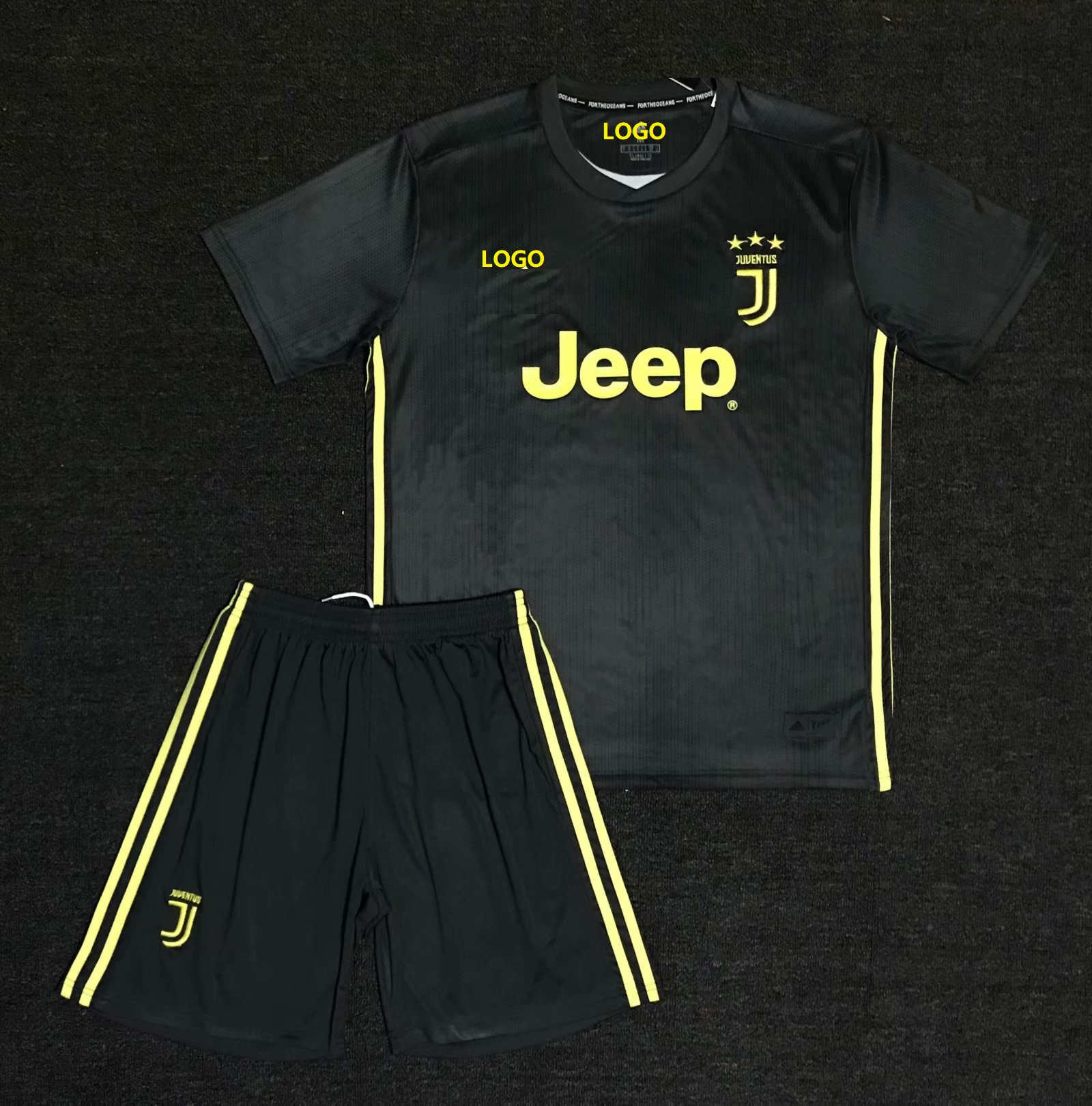 b43e49614 2018/19 AAA Men Juventus Away Soccer Uniform Adult Football Kits Customize  Name Number