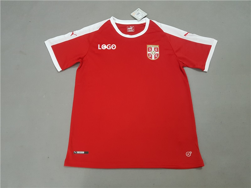 6415e9a3e 18-19 Serbia Home Red Soccer Jersey -Thai Quality Football Shirt Custom  Name And Number