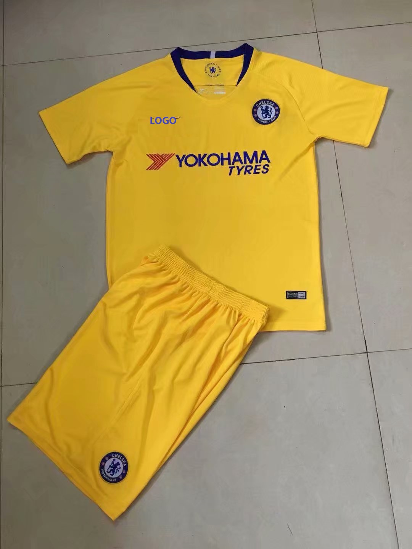 fc8f59d0b 2018 19 Cheap Adult Chelsea Away Yellow Soccer Jersey Uniform Men Football  Kits Item NO  407711