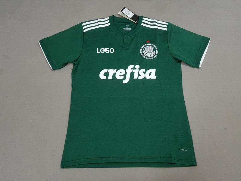 8de94d5fa56 18-19 Men Palmeiras Home Green Soccer Jersey -Thai Quality Custom Name And  Number