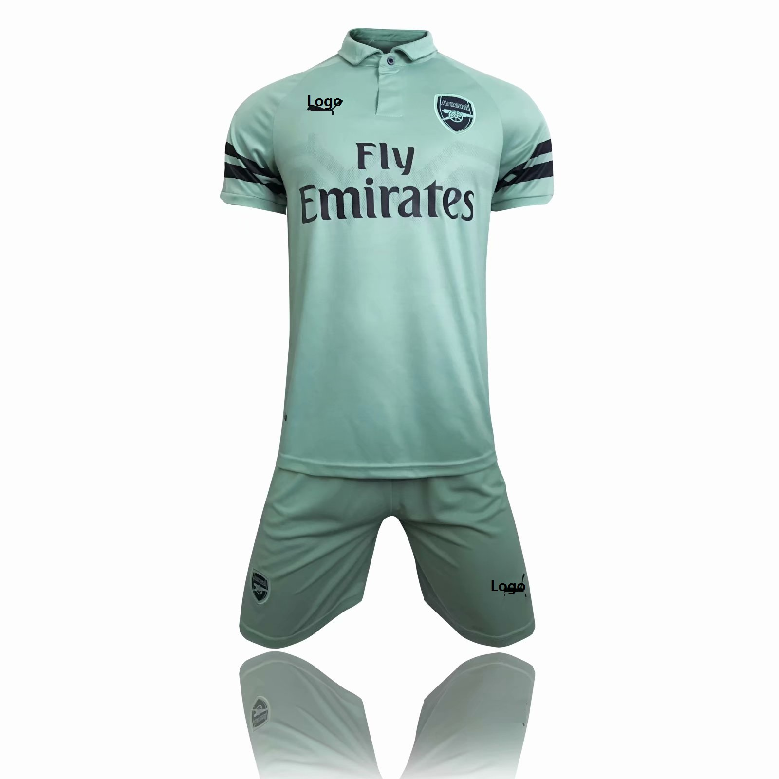 2018 19 Men Green Arsenal Third Away Soccer Uniforms Adult Football Kits  Item NO  549160 0e633cade