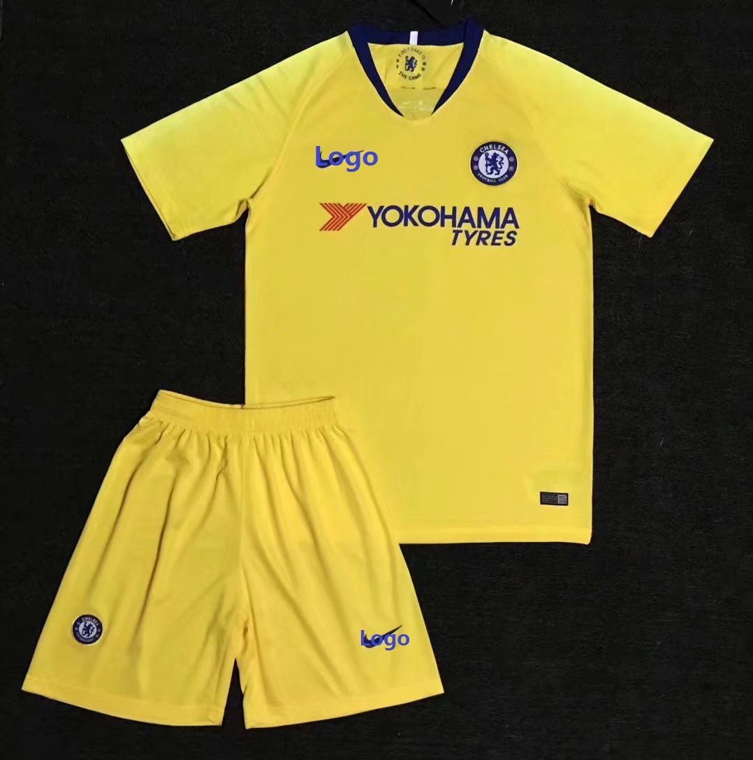 8daed1975 18 19 AAA Adult Yellow Chelsea Away Soccer Uniforms Adult Football Kits  Item NO  549184