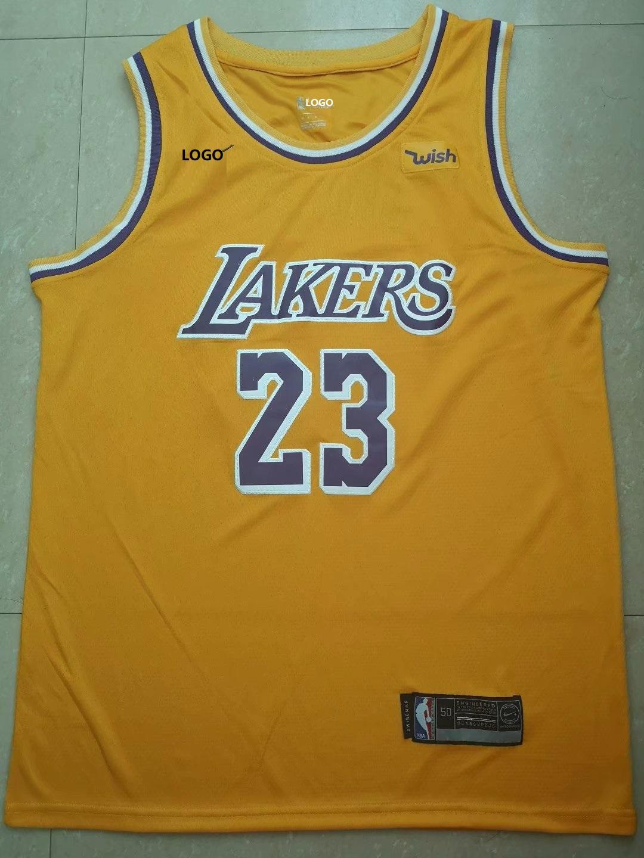 28cc85c549dd Best Sellers  Men Laker Lebron James 23 Yellow Jersey Basketball Shirt