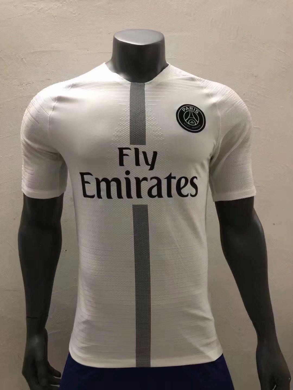 timeless design b5988 d4a26 2018/19 Adult Player version White PSG Soccer Jersey Men Paris Football  Shirt