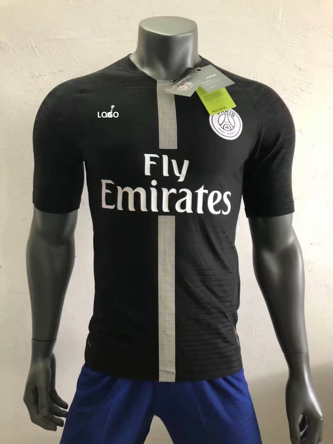 best authentic ee55c b04e2 2018/19 Adult Player version Black PSG Soccer Jersey Men Paris Football  Shirt