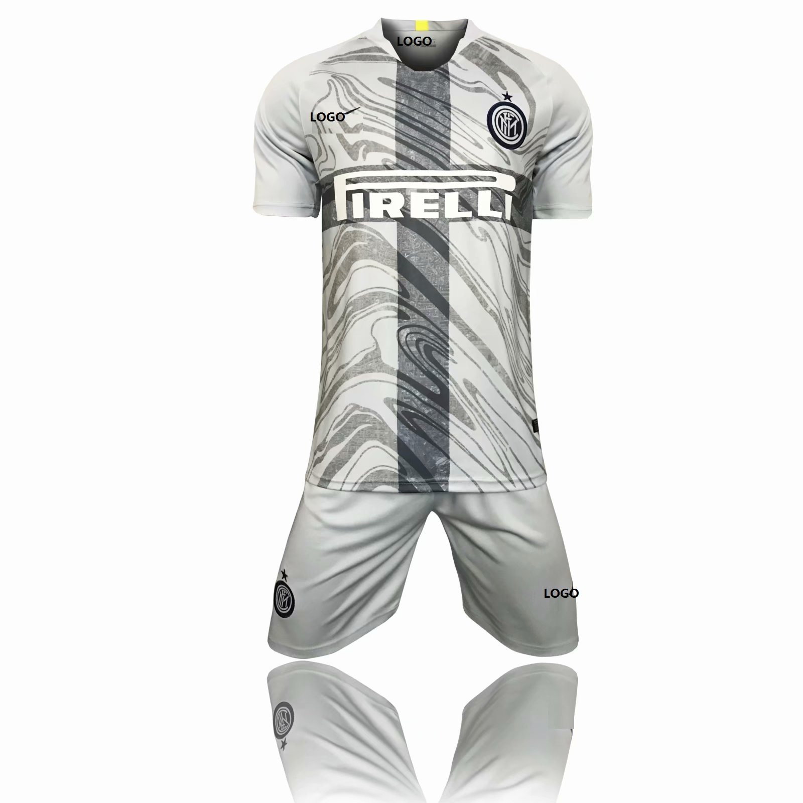 2018 19 Adult Inter 3RD Away Soccer Jersey Uniform Youth Grey Football Kits  AAA Quality Item NO  556843 215badc9d
