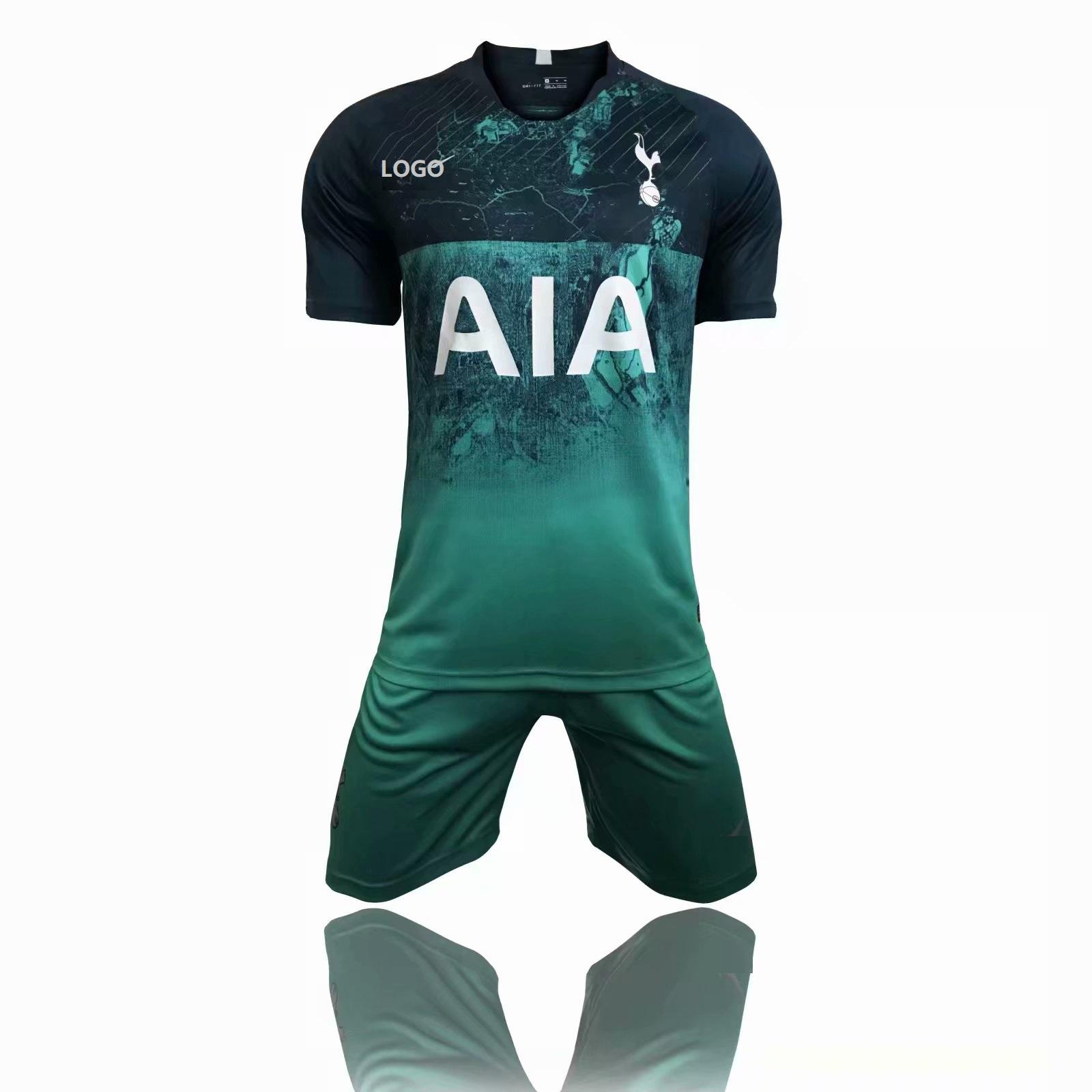 b59a455bf2c 2018 19 Adult Hotspur Green Third Away Soccer Jersey Uniform Men 3rd Football  Kits Custom Name Number