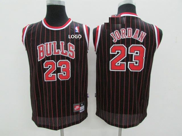 best service 05009 85622 Adult Chicago Bulls Basketball Jersey 23 Black Red