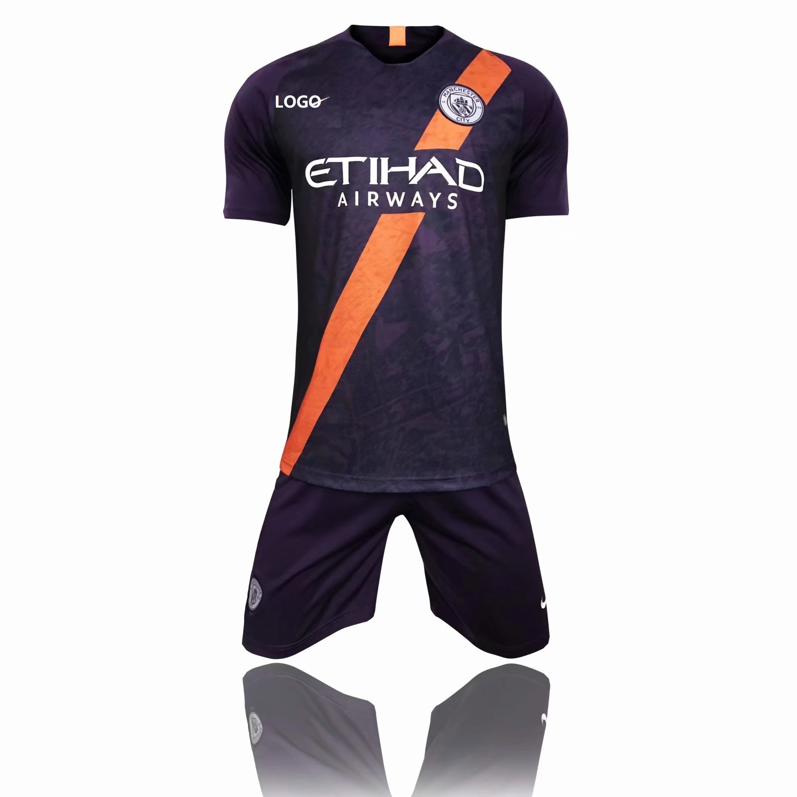 59bdc80c298 2018 19 AAA Men Manchester City third away Soccer Jersey Uniform Adult Football  Kits Custom Name Number