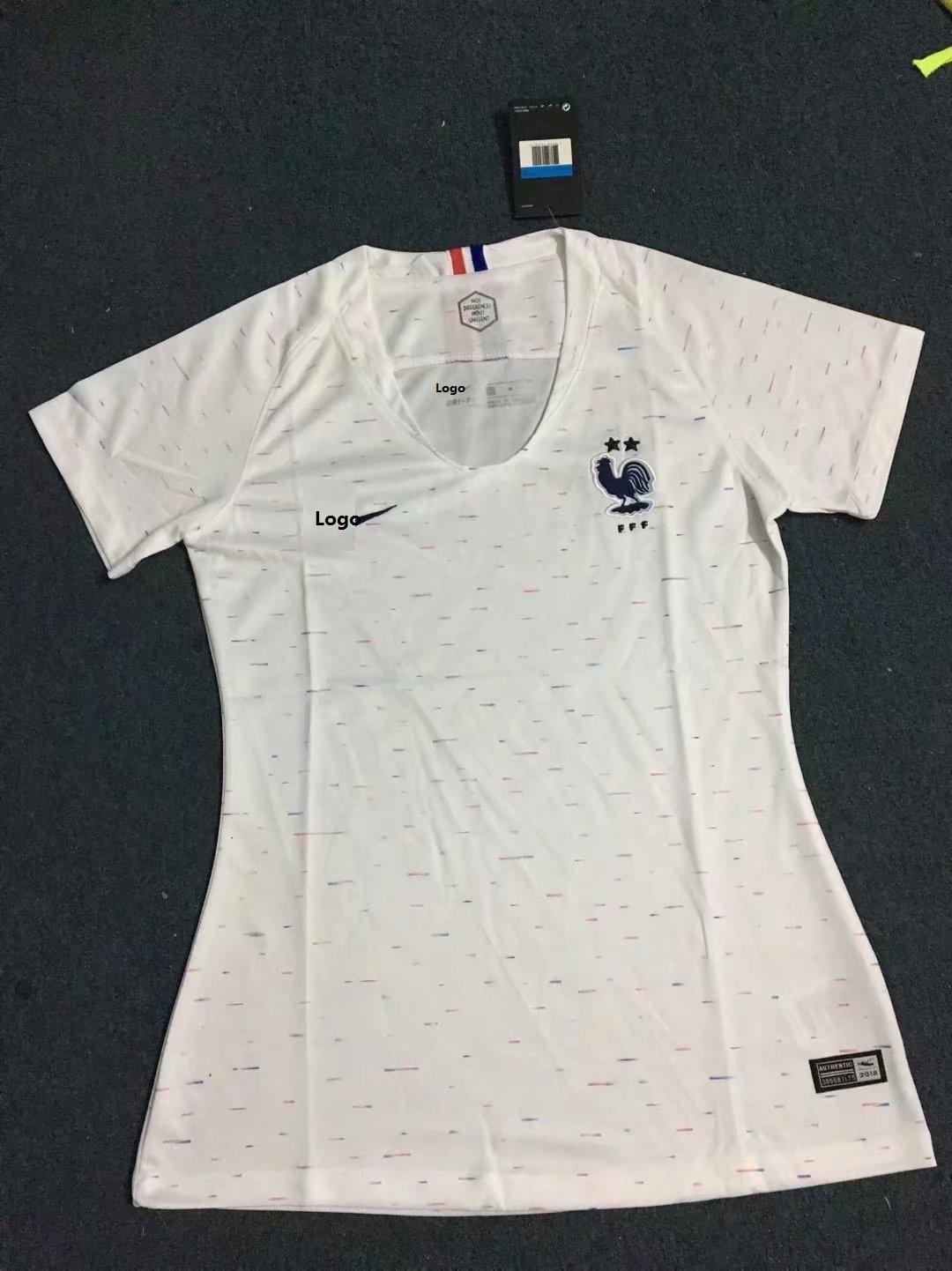 new product 0614e 803b8 2018/19 Women Thai Fan Version France Two Star White Soccer Jerseys