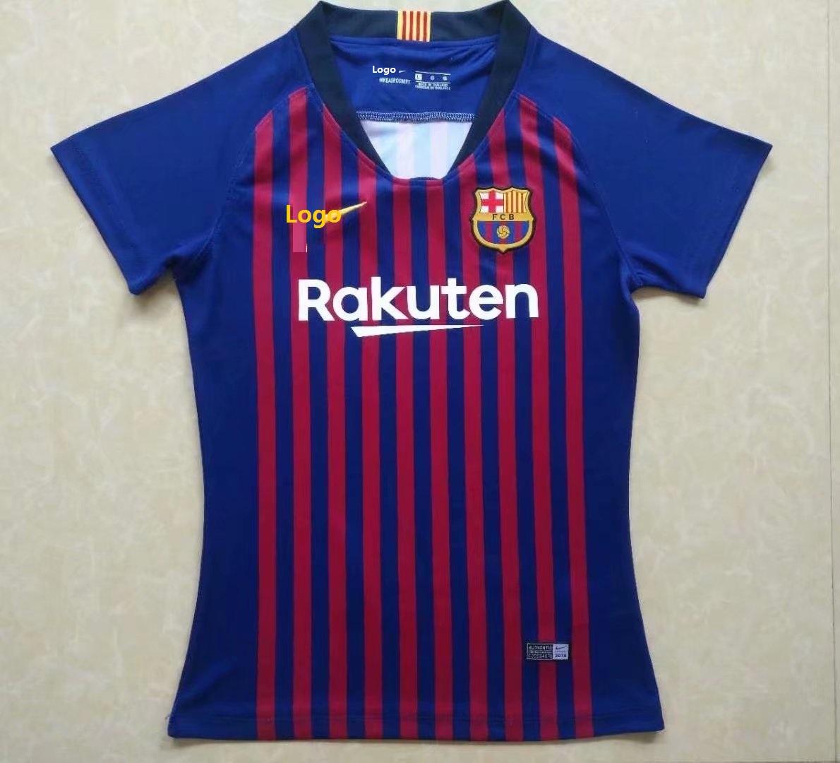 the latest 473de 58473 18-19 Women Thai Barcelona Home Fan Version Soccer Jersey Football Shirt